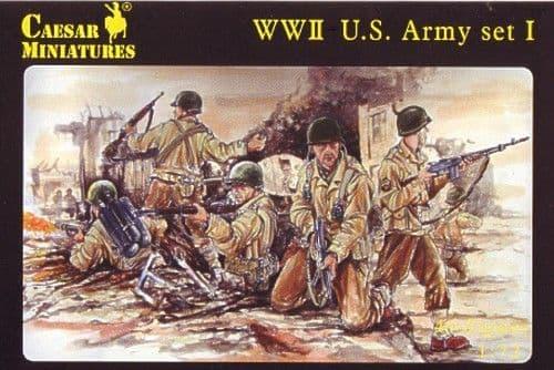 Caesar Miniatures 1/72 WWII US Army set I # 054