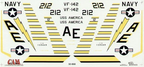 CAM 1/32 Grumman F-14A Tomcat # 32068