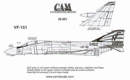 CAM 1/32 McDonnell F-4N Phantom # 32021