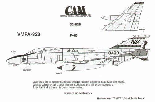 CAM 1/32 McDonnell F-4N Phantom # 32026