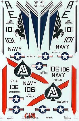 CAM 1/48 Grumman F-14A Tomcat # 48027