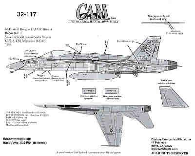 CAM Decals 1/32 McDonnell-Douglas F/A-18C # 32117