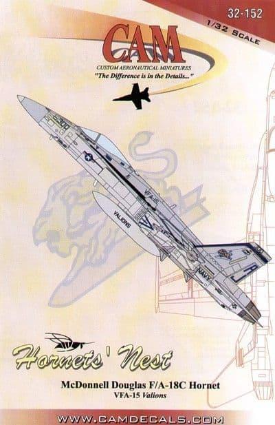 CAM Decals 1/32 McDonnell-Douglas F/A-18C Hornet # 32152