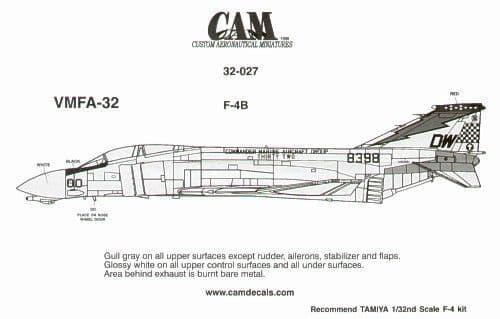 CAM Decals 1/32 McDonnell F-4B Phantom # 32027