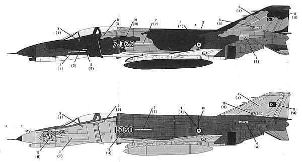 CAM Decals 1/32 McDonnell F-4E Phantom # 32037