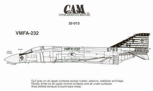 CAM Decals 1/32 McDonnell F-4J Phantom # 32013
