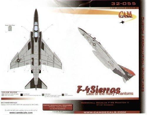 CAM Decals 1/32 McDonnell F-4S Phantoms # 32055