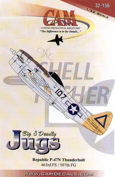 CAM Decals 1/32 Republic P-47N Thunderbolt # 32156