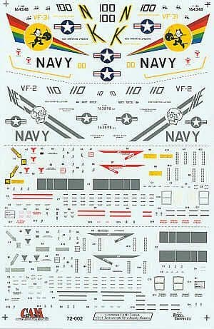 CAM Decals 1/72 Grumman F-14D Tomcat # 72002