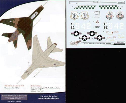 CAM PRO 1/32 North-American F-100D Super Sabre # 3214