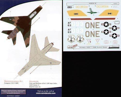 CAM PRO 1/32 North-American F-100D Super Sabre # 3215