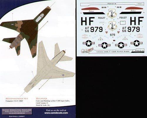 CAM PRO 1/32 North-American F-100D Super Sabre # 3216