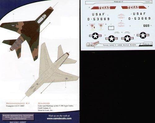 CAM PRO 1/32 North-American F-100D Super Sabre # 3217