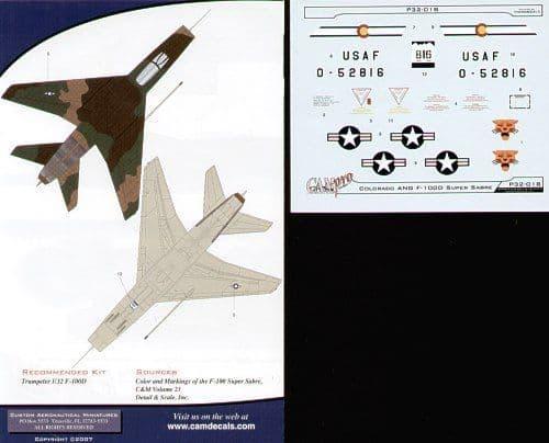 CAM PRO 1/32 North-American F-100D Super Sabre # 3218