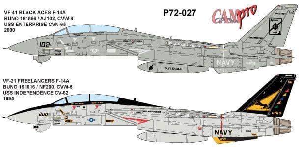 CAM PRO 1/72 Grumman F-14A Tomcat # 7227