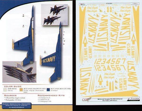 CAM PRO 1/72 McDonnell-Douglas F/A-18A &áF/A-18B Hornet # 7204