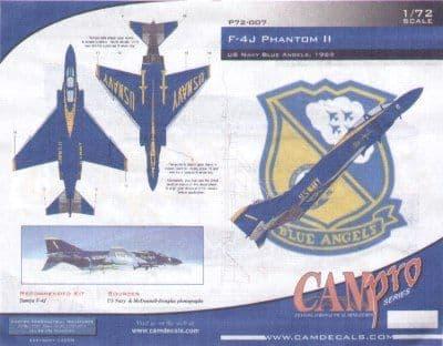 CAM PRO 1/72 McDonnell F-4J Phantom Blue Angels 1969 # 7207