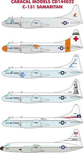 Caracal Decals 1/144 Convair C-131B Samaritan # 144022