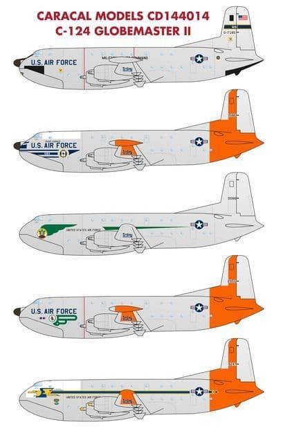Caracal Decals 1/144 Douglas C-124A Globemaster II # 144014