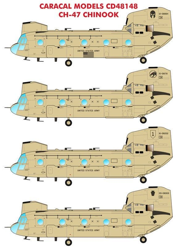 Caracal Decals 1/48 Boeing CH-47 Chinook # 48148