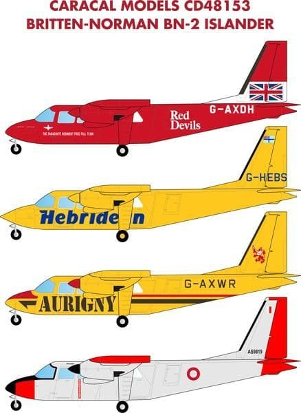 Caracal Decals 1/48 Britten-Norman BN-2 Islander # 48153