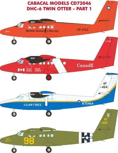 Caracal Decals 1/72 DHC-6 Twin Otter Part 1 # 72046