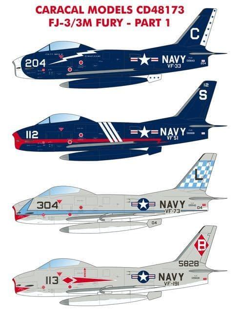 Caracal Models 1/48 North-American FJ-3 Fury - Part 1 # 48173