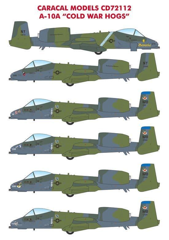 """Caracal Models 1/72 USAF Republic A-10A """"Cold War Hogs""""  # 72112"""