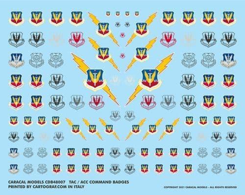 Caracal Models - USAF Tactical Air Command (TAC) & Air Combat Command (ACC) Badges # B48007