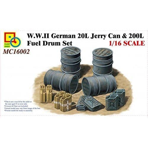 Classy Hobby 1/16 WWII German 20L Jerry Can & 200L Fuel Drum Set # MC16002