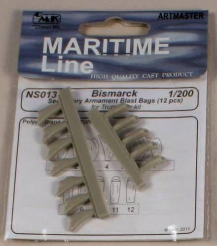 CMK 1/200 Bismarck 1941 Bismark Secondary Armament Blast Bags # NS013