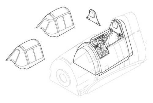 CMK 1/32 F6F-3/5 Hellcat Interior Set # 5004