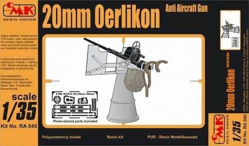 CMK 1/35 20mm Oerlikon Anti-Aircraft Gun WWII # RA045
