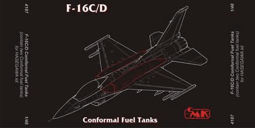 CMK 1/48 F-16C/D Fighting Falcon Conformal Fuel Tanks # 4187