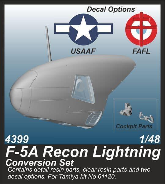 CMK 1/48 Lockheed F-5A Recon Lightning Conversion Set # 4399