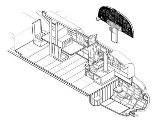 CMK 1/72 Avro Lancaster Mk. I/III Interior Set # 7118