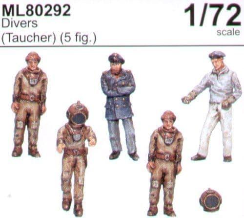 CMK Maritime Line 1/72 Divers (Taucher) x 5 # ML 80292