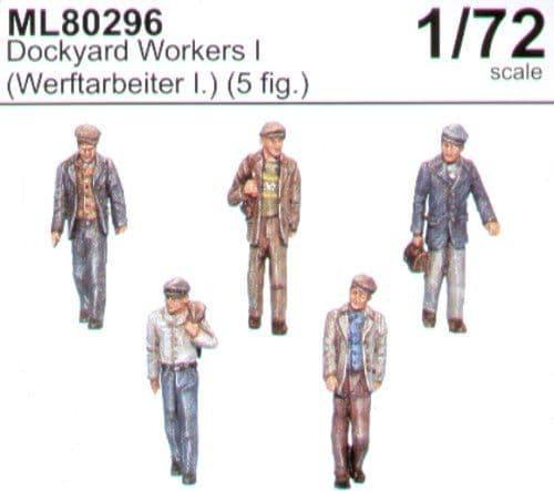 CMK Maritime Line 1/72 Dockyard Workers I (Werftarbeiter I) x 5