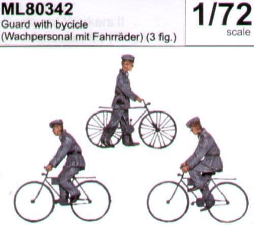 CMK Maritime Line 1/72 Guards with Bicycles # 80342