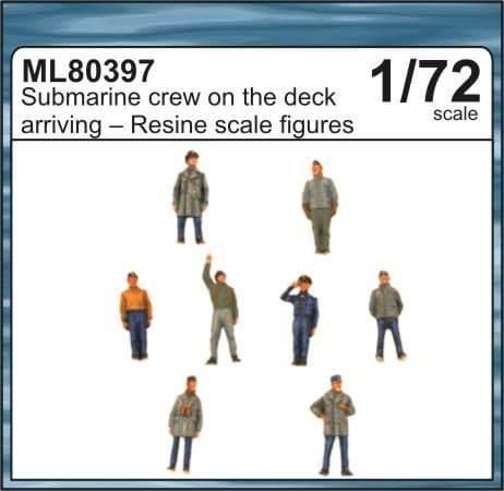 CMK Maritime Line 1/72 Submarine Crew on the Deck Arriving in Port # ML80397