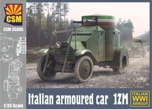 Copper State Models 1/35 1ZM Italian WWI Armoured Car # 35005