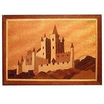 "Craft Supplies Bavarian Castle 7"" x 5"" Marquetry Kit # 204"