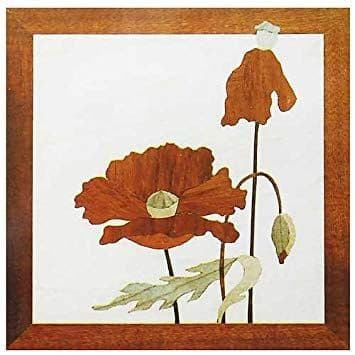 """Craft Supplies Red Poppy 7"""" x 7"""" Marquetry Kit # 307"""