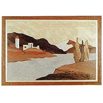 "Craft Supplies Swiss Lake 7"" x 5"" Marquetry Kit # 202"