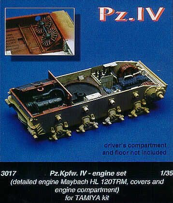 Czech Master 1/35 PzKpfw IV Engine set # 3017