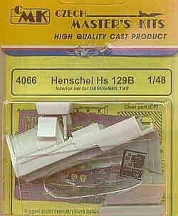 Czech Master 1/48 Henschel Hs 129 Interior Set # 4066