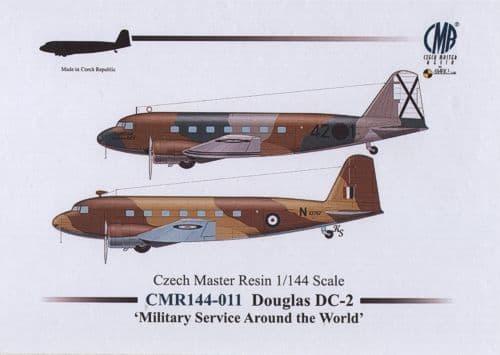 Czech Master Resin 1/144 Douglas DC-2 Military Service Around the World  # 144-011
