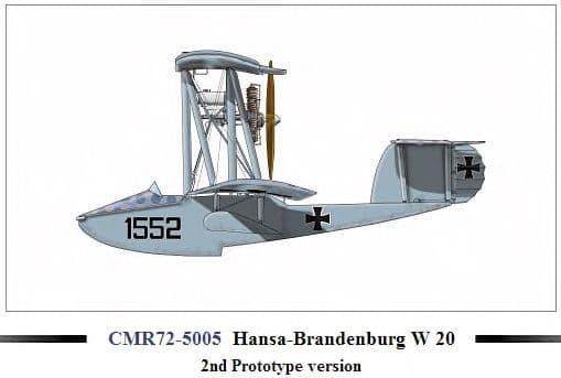 Czech Master Resin 1/72 Hansa-Brandenburg W20 2nd Prototype Version # 72-5005