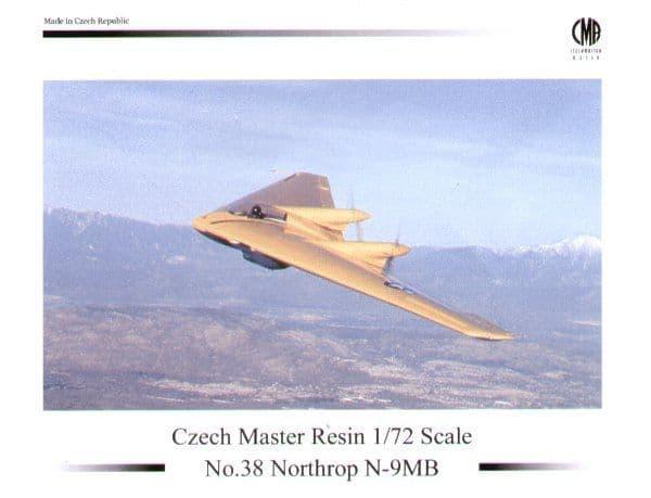 Czech Master Resin 1/72 Northrop N-9MB # 72-5038