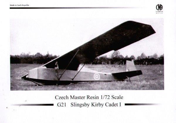 Czech Master Resin 1/72 Slingsby Kirby Cadet Mk.I Training Glider # 72G5021